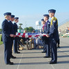 AF JROTC cadets flag folding at Choctawatchee High School memorial presentation