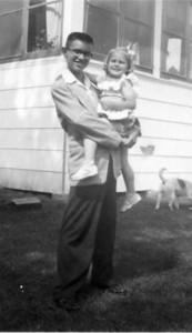 Wayne with Jill - 1952/3