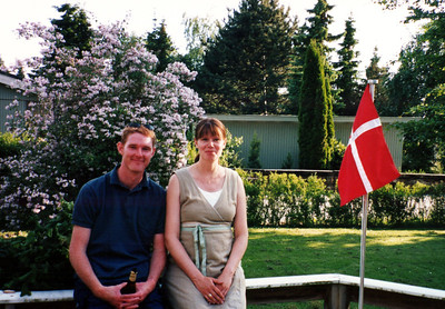 Martin and Rie at home in Helsignor