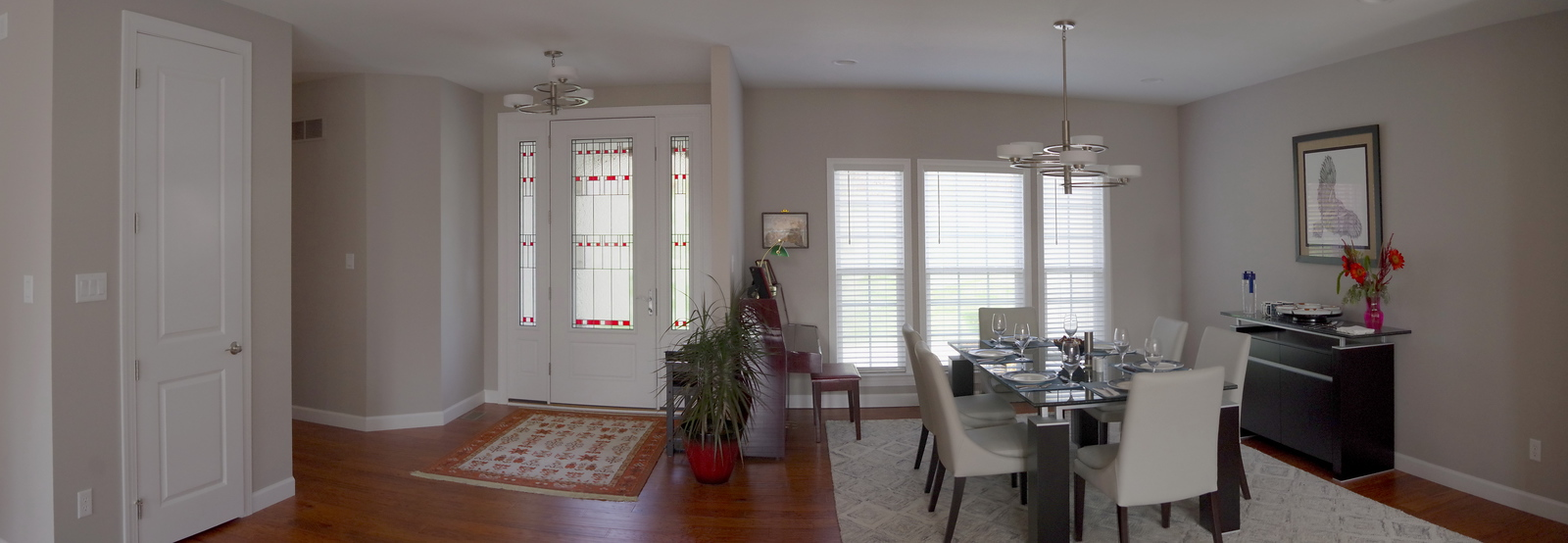 Front entry and formal dining area