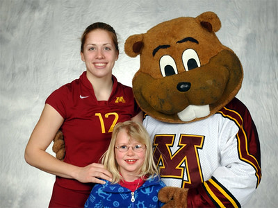 Katie with Goldie Gopher