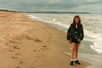Krista on Cavendish Beach