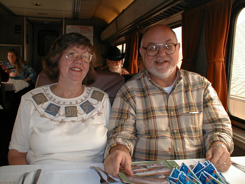Lunch time on AMTRAK