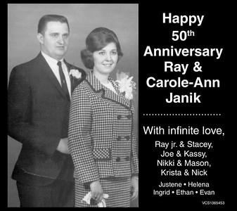 Ray & Carole-Ann Janik's 50th Wedding Anniversary, March 2015
