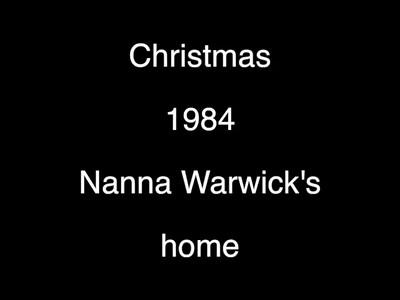 VIDEO:  Hanging out at Nana Noakes--Christmas 1984