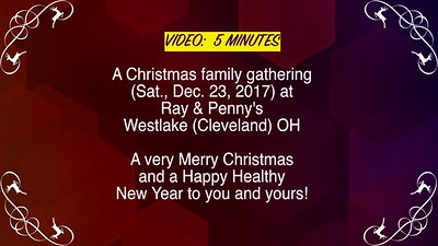 VIDEO:  5 MINUTES -- Christmas 2017 - Schuette/Downings