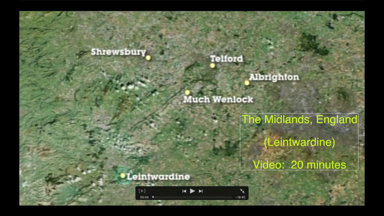 Video:  20 minutes - featuring the Midlands of England and Leintwardine's Sun Inn Pub.