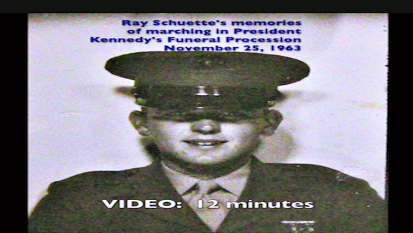 VIDEO:  12 minutes - JFK's Funeral Procession, November 25, 1963 - Ray Schuette's Memories of that day and includes Cleveland Blossom Orchestra playing music relating to that day.