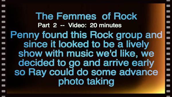 Video:  20 mins - The Femmes - 12-6-2019 -- Part 2