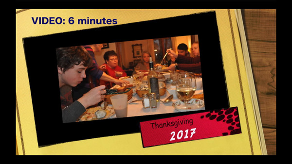VIDEO:  Thanksgiving Dinner 2016 @ Ray & Penny's