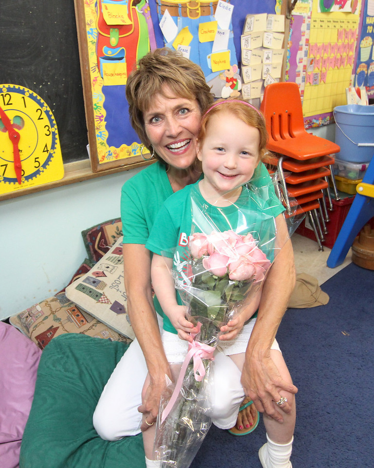 Reagan and her teacher Miss Lombardo!