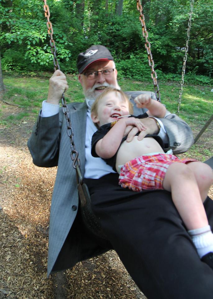 "Robert and ""Opa"" Richard had a swinging good time!"