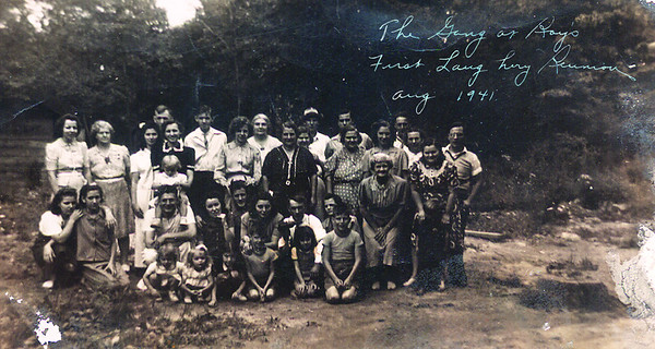 First Laughery Family Reunion Aug. 1941