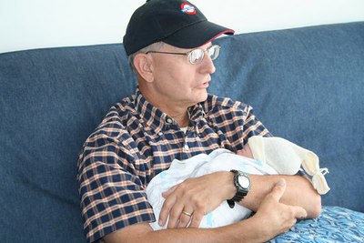 Proud grandfather J.R.