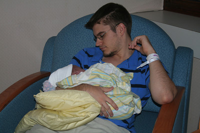 With proud Daddy
