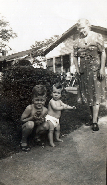 Rosa Lee (Granny) Donaldson (Ware/Leavitt) with Dick and Shirley (Aunt Dorothy's Children) Blankenship