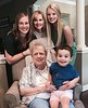 Karen Fulton, with Mother Jean, Daughters and Grandson