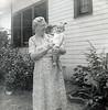 Rosa Lee (Granny) Donaldson (Ware/Leavitt) with Buddy (Fred Fulton) around 1952