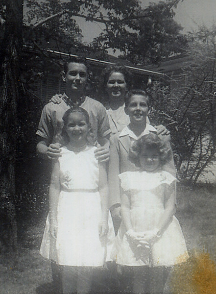 The Yarbrough children with mother Mildred