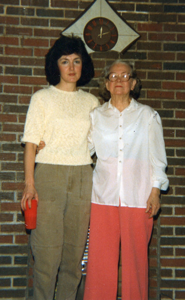 Janie Yarbrough (Gregory) and Mildred Yarbrough (Fulton) Christmas 1987
