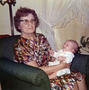 Grandmother Heloise Yarbrough (Chappuis) with great grand daughter Erin Yarbrough (Patterson) March 1972