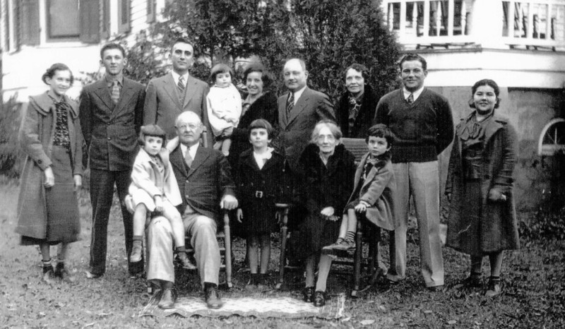 Phillip Jules Chappuis (front left seated) and his family - 1936 Brother of August Chappuis Sr.
