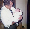 Jim Yarbrough with grand daughter Erin - 1972