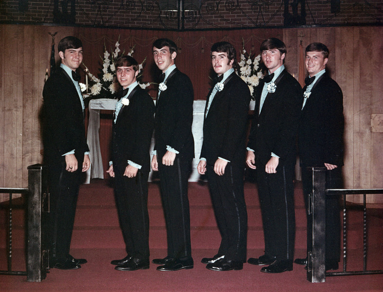 Best Men - October 9, 1970 From left: Terry Yarbrough, Robbie Chancey, Dave Hand, John Millican, Doug Springfield, Ronnie Driskill