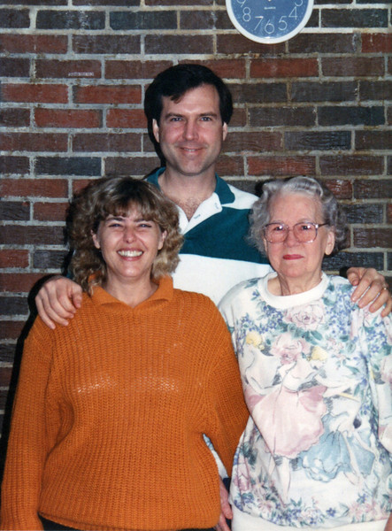 Denise and Terry with Mom - 1992