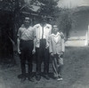 Jim Yarbrough with sons Jim (left) and Terry (right) at home in Belview Heights of Ensley<br /> from April 1962