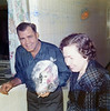 Jim and Mary Yarbrough Visiting the day after Erin's birth - February 14, 1972