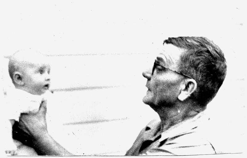 Grandfather Bert Yarbrough with grandchild Sylvia (Keeton, Henington)