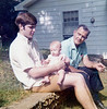 Terry Yarbrough with daughter Erin and father Jim at Jim's home in Engelnook