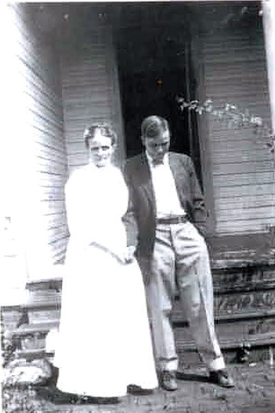 Martha Guest Yarbrough and son Bertram (grandfather) - 1910