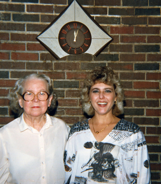 Mildred Yarbrough & Denise Taylor (Yarbrough) Christmas 1987