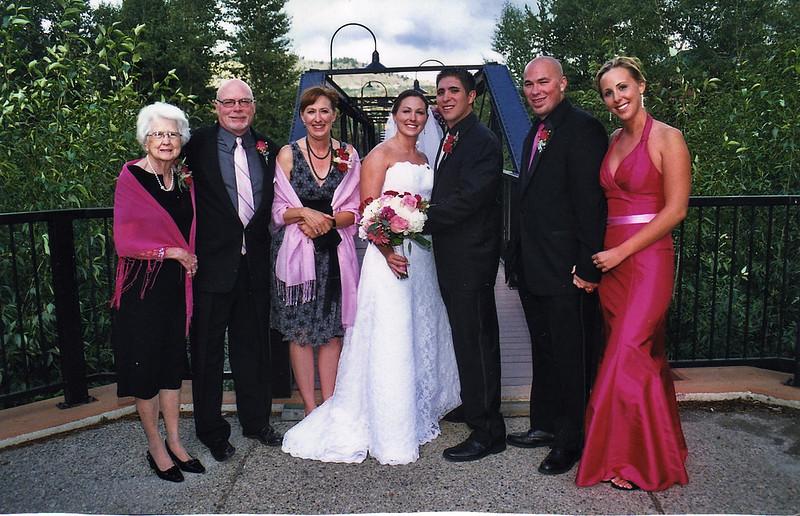 Doris, Jeremy, Nancy, Jennifer, Nick, J.J., Julie--the Black family--August 2008, Silverthrone, Colorado
