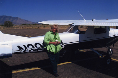 Joan and Tom's plane in New Mexico--2008