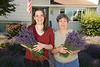 Laurie & Sarah cut lavender to make a bouquet for Grandpa Don's memorial service.