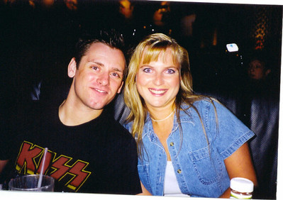 Rocky & Melissa Las Vegas July 1999. (If you look real close you can see that my eyes are violet. I had purple contacts in that day.)