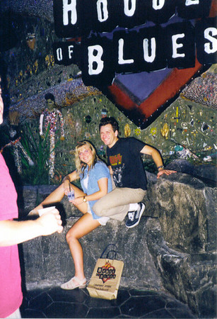 Meliss & Rock at the House of Blues Las Vegas July 1999. (Chris was trying to get into the photo)