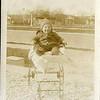 baby Palmer Louis in rickety stroller