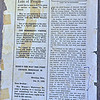 """article by Dr. Grafton about Oldenburg Presbyterian church in """"The Mississippi Visitor"""" (Feb.? 1920) - Ordination of TPQ and baptism of PLQ, visit to home of Grandpa Lehmann"""