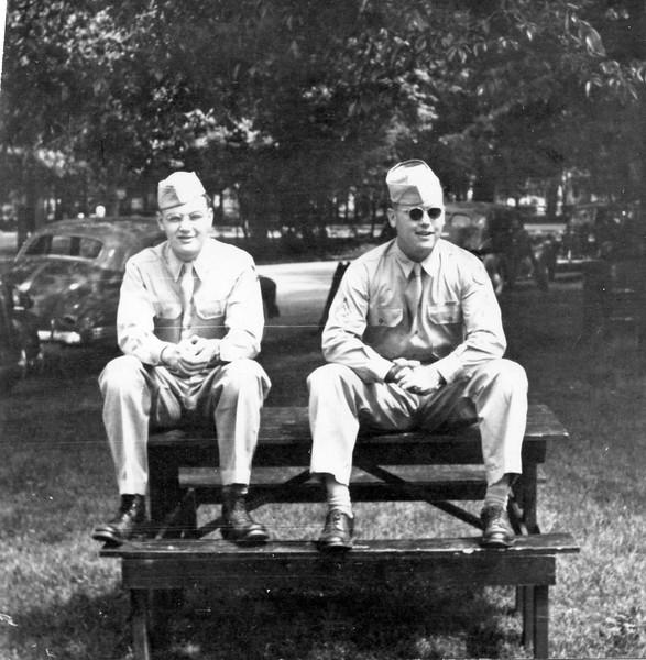 1944 Ellis and friend in uniform