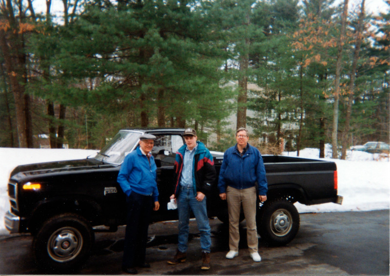 1993 Ellis Dave with truck and Fred in Chelmsford