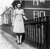 1944 Sophie in front of house