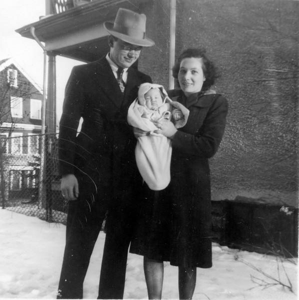 1946 Ellis baby Carol and Sophie on Christening Day