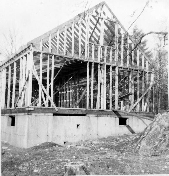 1951 The house in Billerica framed