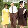 1968 May, Sophie, Carol and Ellis after Mount Union graduation