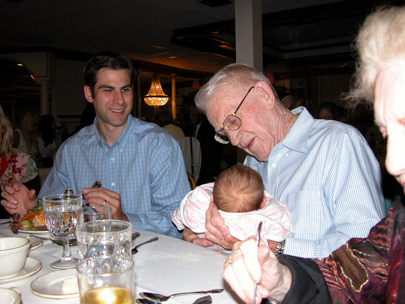 Poppy meets his Great Grand Daughter