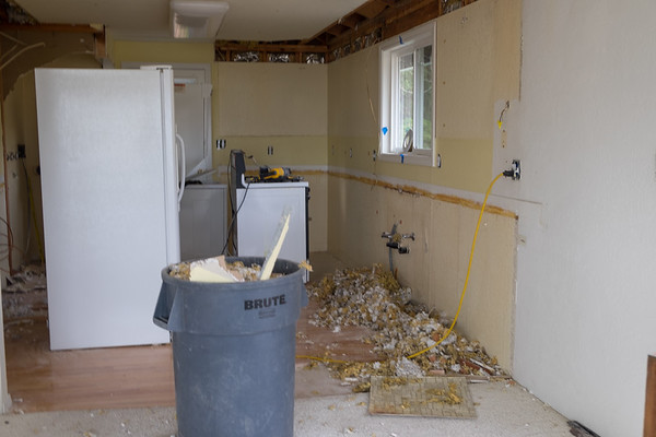Kitchen demo continues.